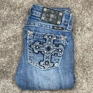 Miss Me Mid-Rise Boot Cut Jeans. Size 25.